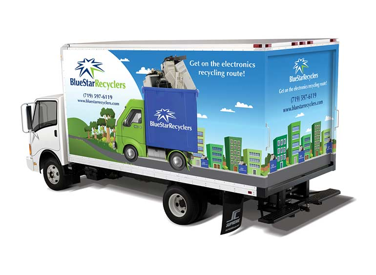 Blue Star Recyclers Truck Wraps