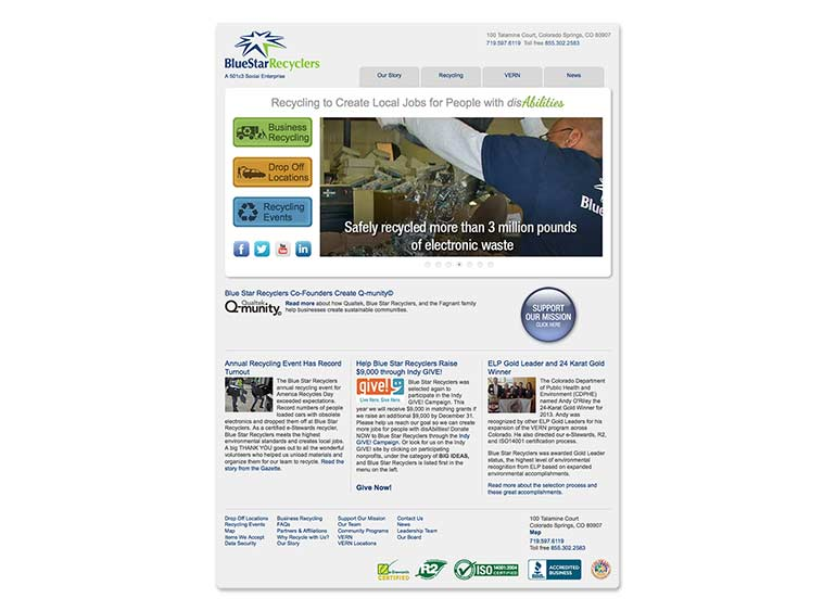 Blue Star Recyclers Responsive Website Design and Development